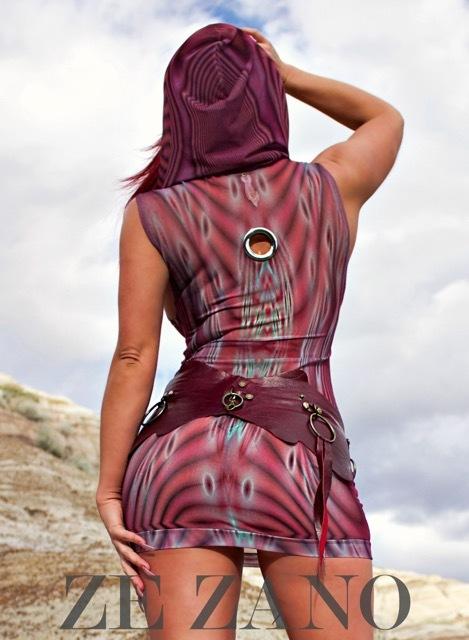 Mirage Dress With Hood