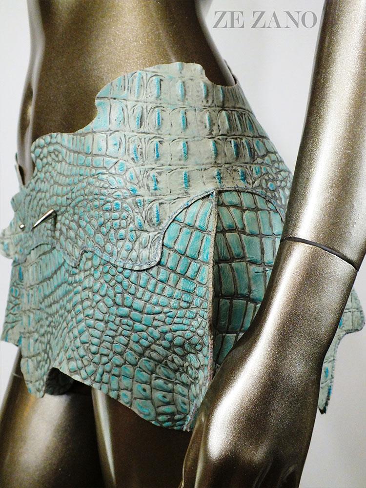 Gator Diva Leather Skirt