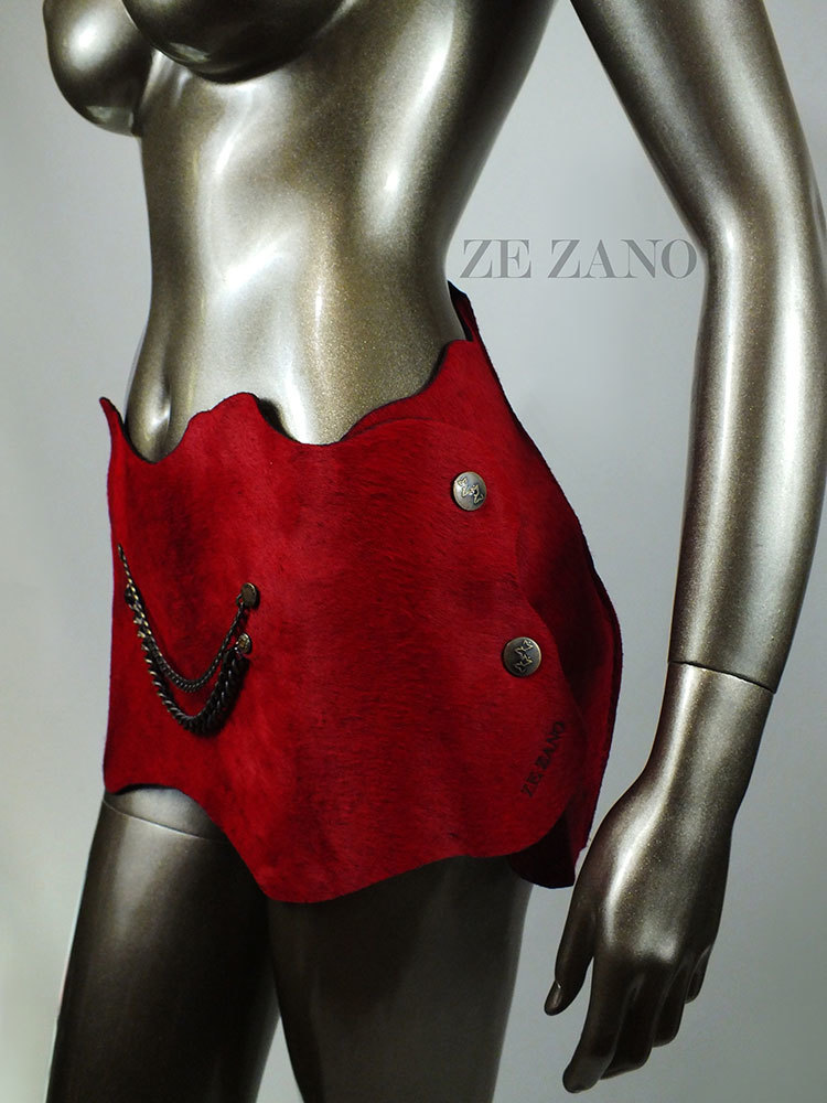 Red Seduction Leather Skirt