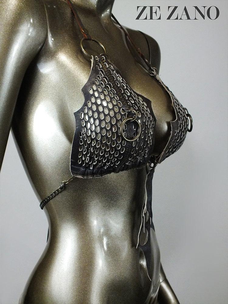 Iron Cobra Leather Top